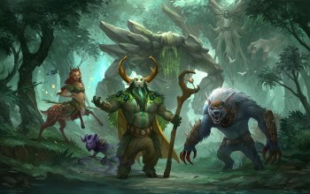 enchantress,the radiant,ursa,tiny,treant protector,Natures prophet