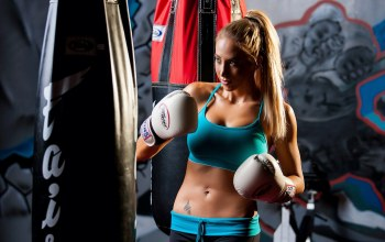blonde,athletic wear,boxing,training