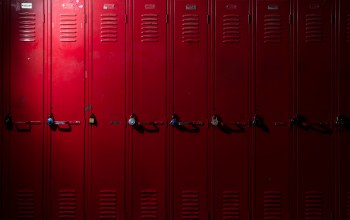 Red,locks,Lockers