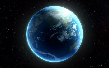 Planet similar to earth,continents,oceans,atmosphere