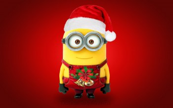 cute,Santa,xmas,Design by marika,christmas,рождество,minion