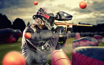 airgun,protective equipment,ink pellets,paintball