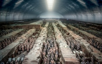 china,Terracotta army,tunnel view