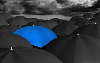 umbrella,blue,many