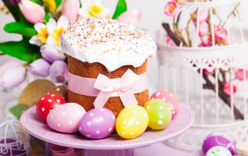 Easter,tulips,holiday,eggs,blessed,яйца,кулич,spring,cake