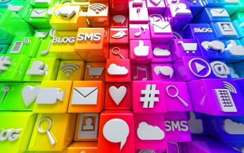 social,icons,кубики,colorful,cubes,иконки