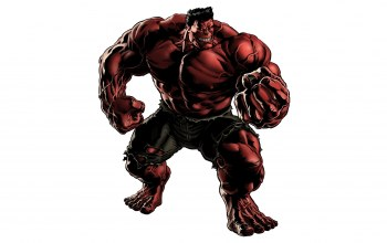 Red,Red hulk,fist,rage
