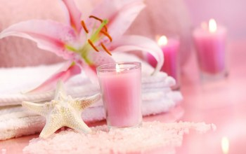Tender spirit,starfish,salt,Crystals,Spa,candle,towel,Lily