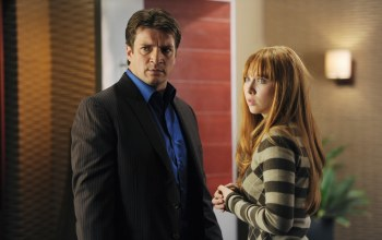 nathan fillion,Molly c. quinn,alexis