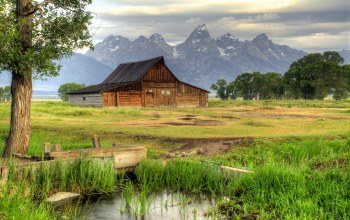 Grand teton national park,wyoming,долина,thomas moulton barn,сша