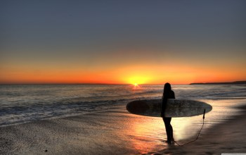 Surfing,beach,Sunset
