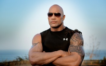 muscles,spiders,sunglasses,dwayne johnson