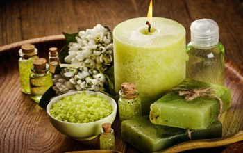 Spa,wellness,соль,цветы,still life,candles,salt
