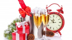 Champagne,glasses,clock,gifts,time, holiday,merry christmas,Happy new year,ornaments