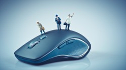 small dolls,Wireless mouse,blue