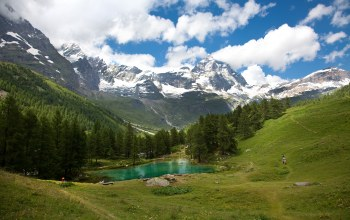 mountain,emerald,Пейзаж,landscape
