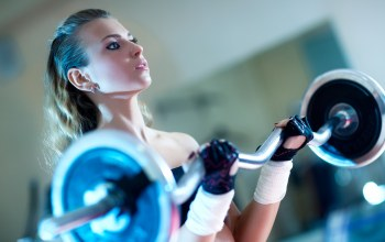 exercise,weightlifting,blonde,gloves,female