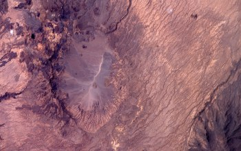 Crater,Chad,Earth from space