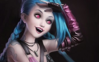 league of legends,Jinx,улыбка