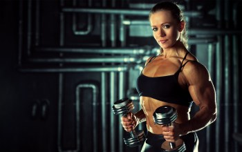 dumbbells,muscles,pose,arms,bodybuilder,Olga belyakova