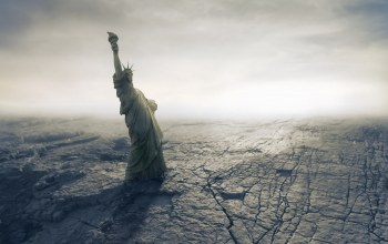 american,Apocalypse,desert,catastrophe,cracks,dry,disaster,statue of liberty