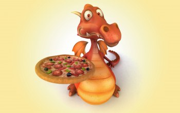 dragon,pizza,funny