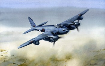 british airplane,De havilland mosquito,painting,drawing,war,ww2