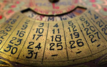 vintage,numbers,technology,around the house,Perpetual calendar