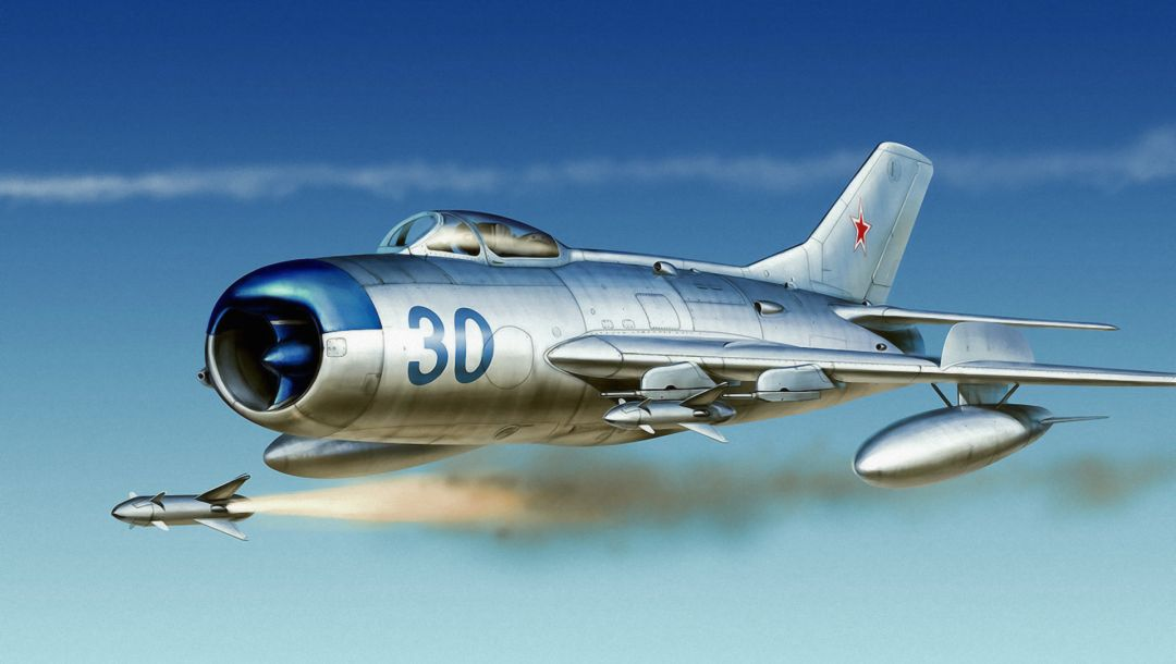 war,russian jet,painting,aviation,russian fighter,Mig 17,air combat