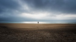 Облака,одна,буря,clouds,Alone,storm,beach,horizon