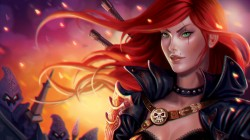 рыжая,katarina,league of legends,девушка,moba,riot games