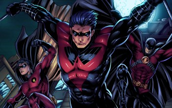 dc comics,red robin,nightwing,герои,tim drake,dick grayson