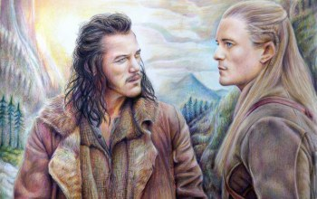 legolas,The hobbit,bard the bowman
