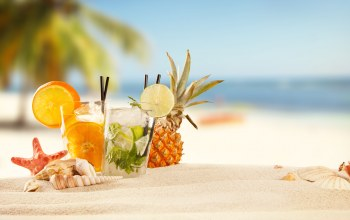 tropical,sand,cocktails,drinks,summer,beach,fruit