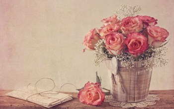 style,Bouquet,винтаж,rose,vintage,flower