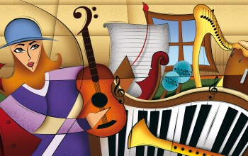Music,composition,Color,instruments,figures