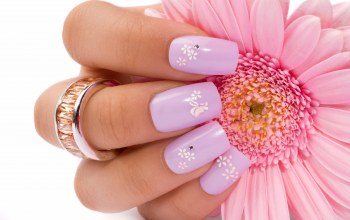 nails,hand,flower