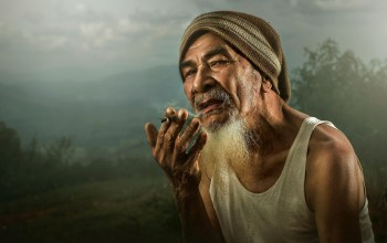 smoking,hand,beard,look,старик,Old man,Hat,eyes,asian,badass,fingers,cool