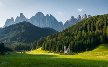 Church st. johann,dolomite alps,sunrise
