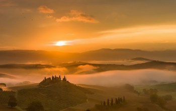 belvedere,Tuscany,morning