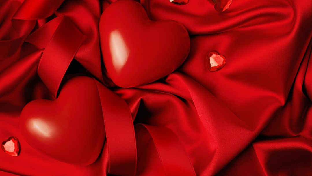 Red,heart,Valentines day,Любовь,silk,сердце