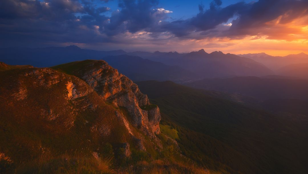 landscape,caucasus,sky,Sunset,racha,Georgia,clouds