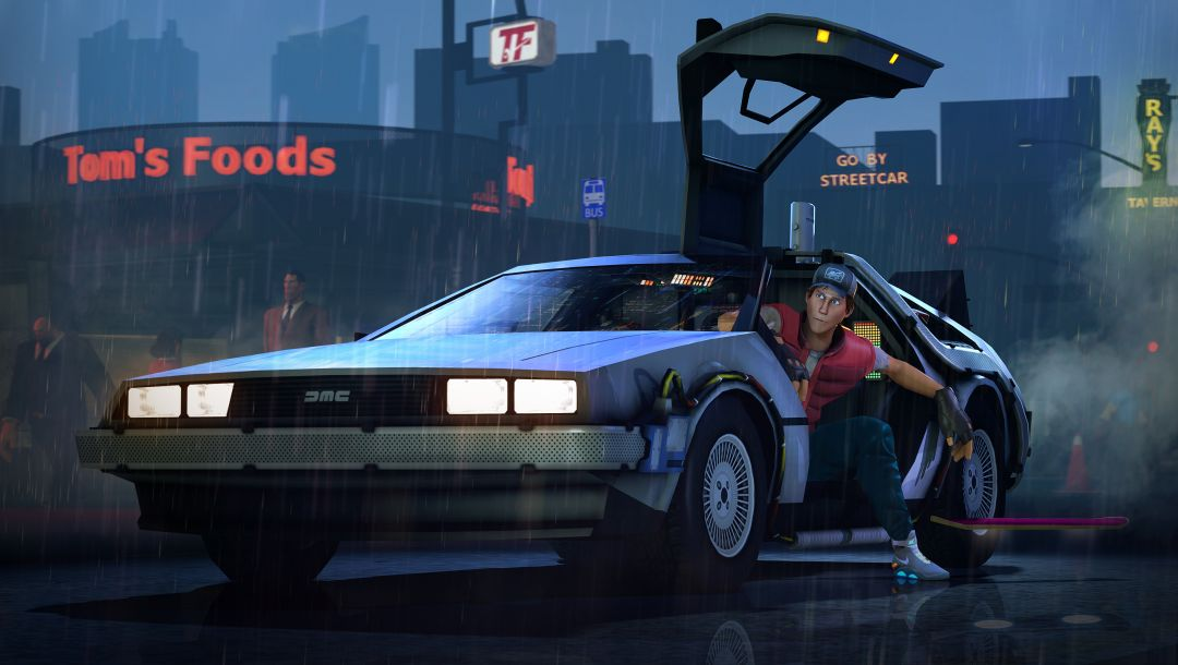 back to the future,Назад в будущее,delorean,Scout,team fortress