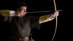 bow,arrow,Medieval archer,chainmail,pointing