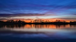 Sunset,sky,evening,england,clouds,river,trees,coast,reflection
