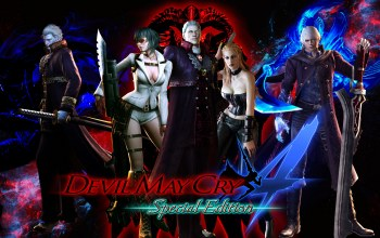 Devil may cry 4: special edition,trish,virgil,sparda,nelo angelo,capcom,nero
