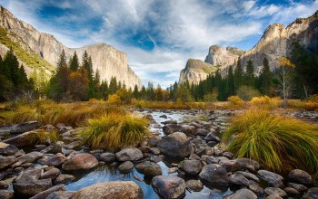 valley,National park,waterfall,Tunnel,fog,Пейзаж,Yosemite
