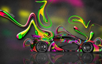 wallpapers,Tony kokhan,Abstract,multicolors,side,Mclaren,aerography,el tony cars