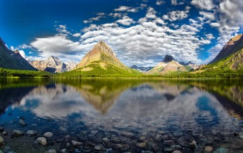 Glacier national park,swiftcurrent lake,grinnell peak
