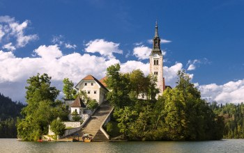 Assumption of mary pilgrimage church,slovenia,Lake bled,bled